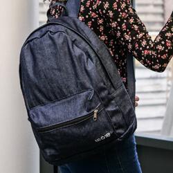 denimowy plecak