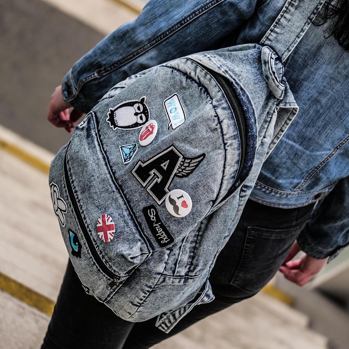 8d49e17778013 plecaki jeansowe · plecak vintage jeansowy · plecak oldschool ...