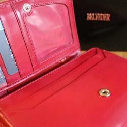 portfele damskie skórzane