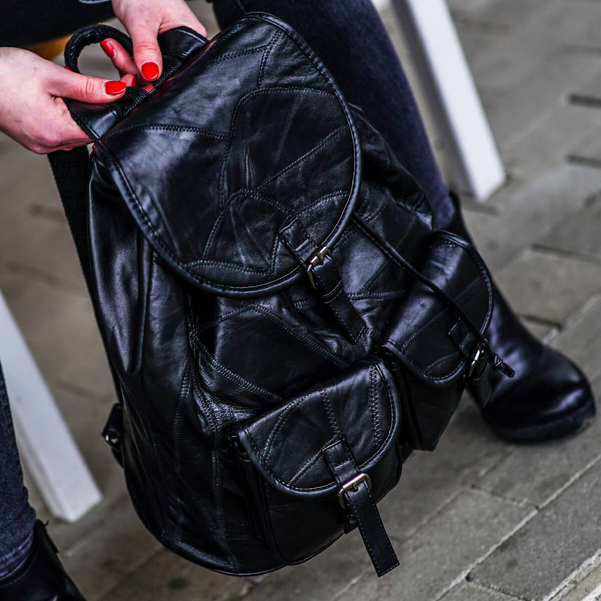 01787cef9856f plecaki skórzane damskie · czarny plecak · plecak skórzany damski · plecak  skórzany ...