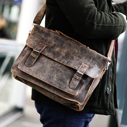 torby męskie na ramię skórzane