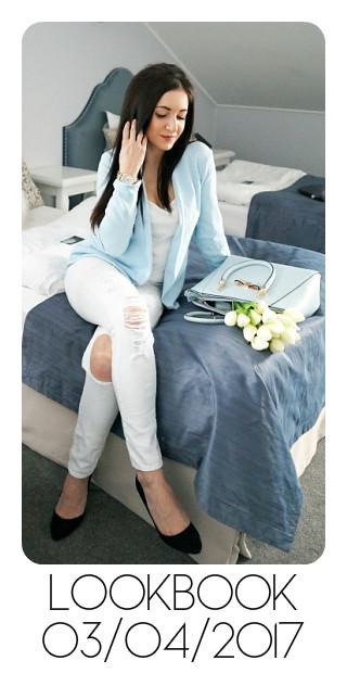 blogerka stylizacja baby blue