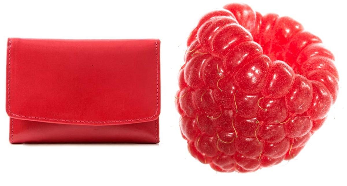 malinowy portfel