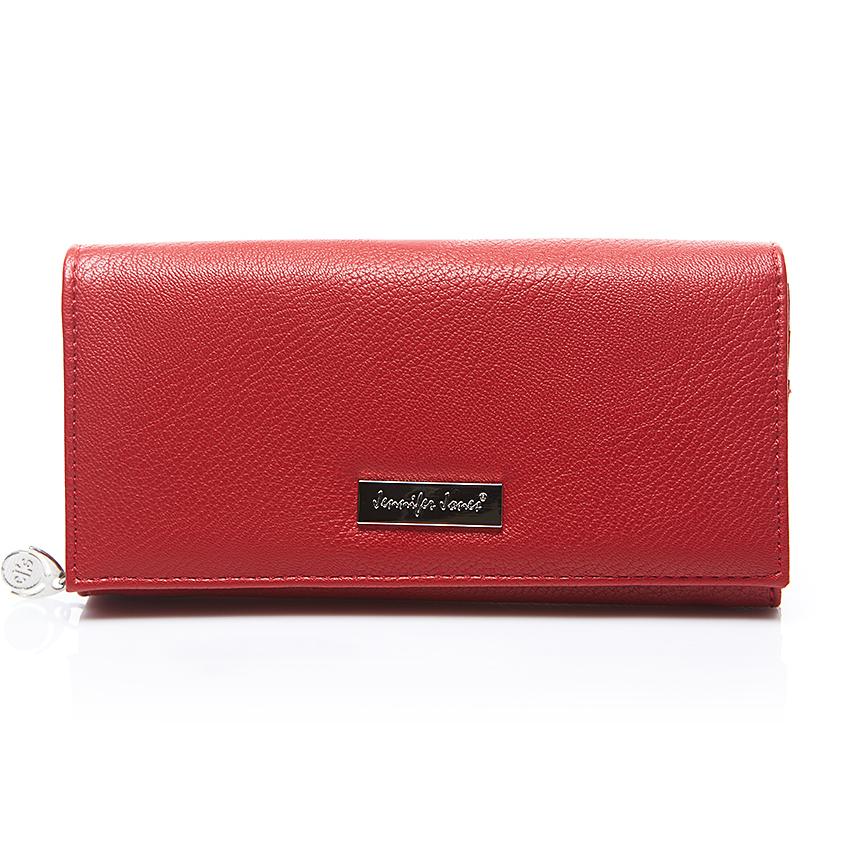 czerwony portfel damski skórzany
