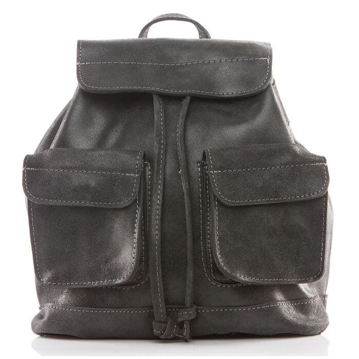elegancki plecak skórzany czarny