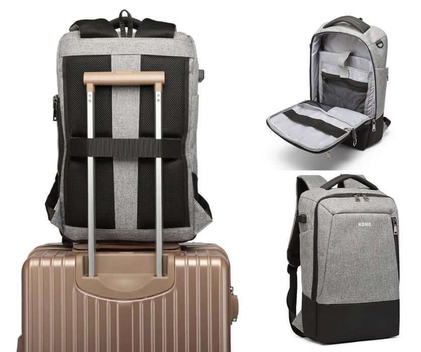 plecak z uchwytem do walizki