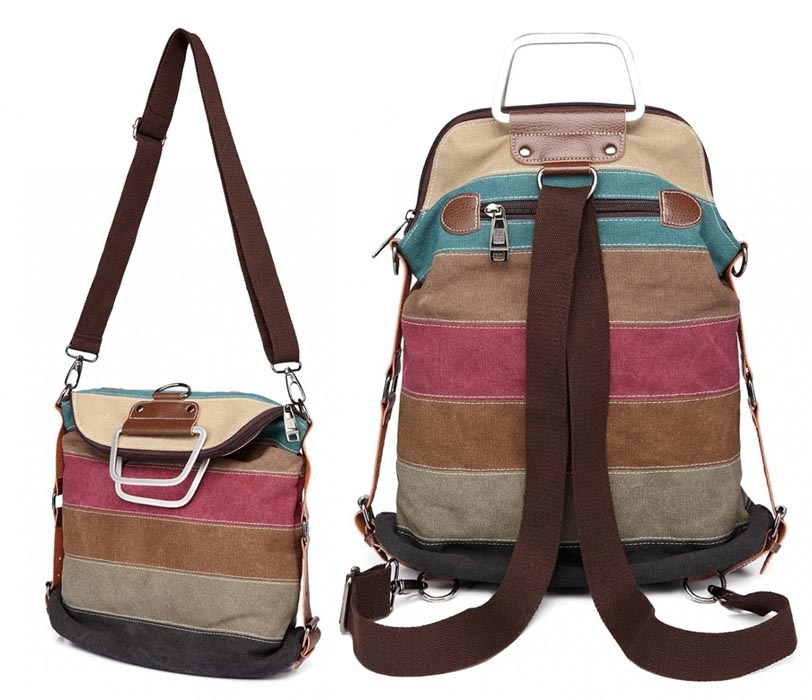 torebka plecak 2w1 kolorowa