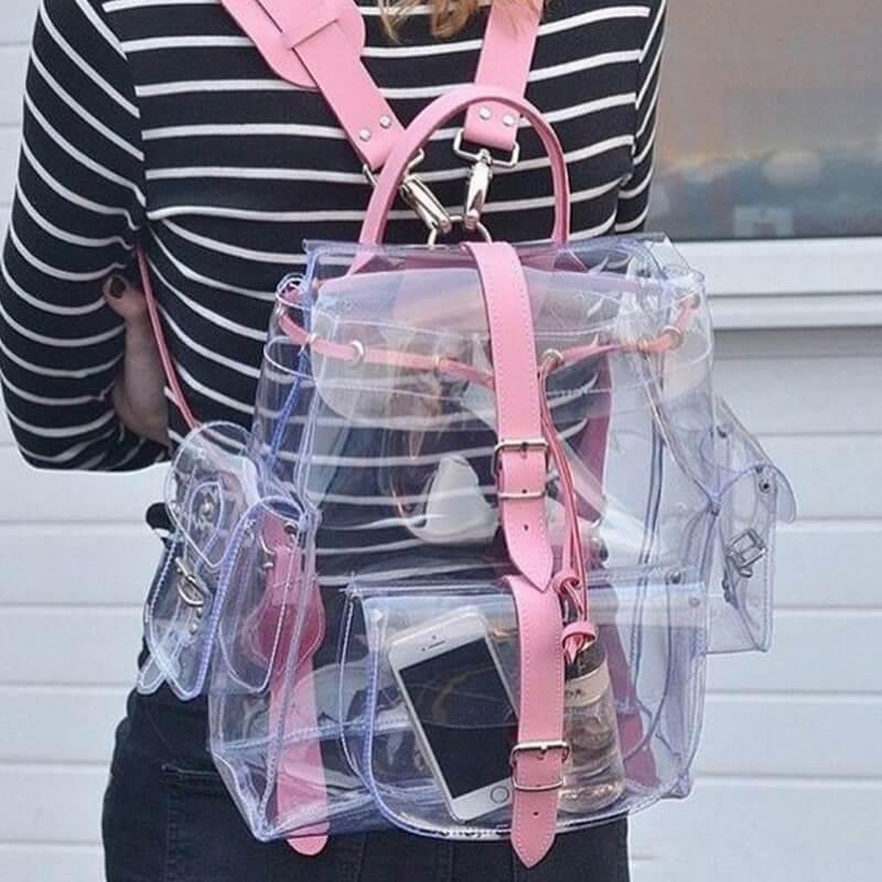 plecak transparentny