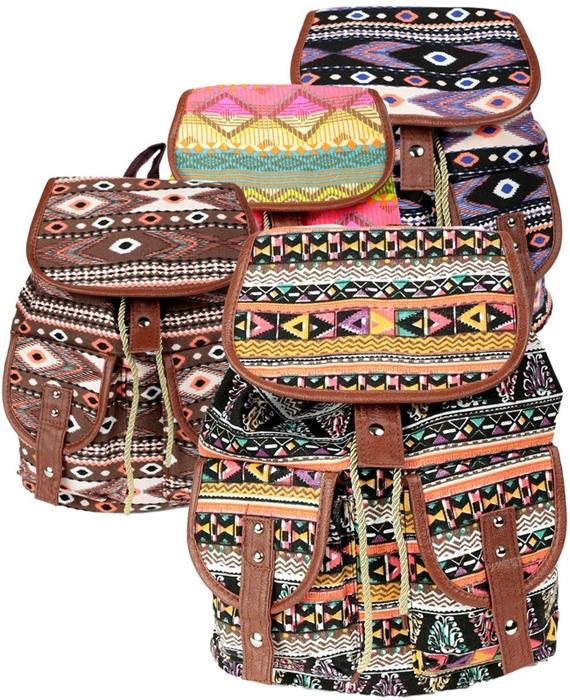plecaki azteckie boho