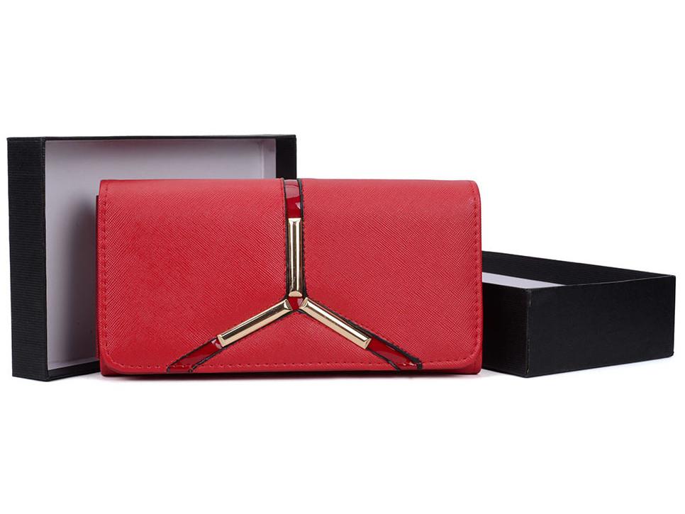 portfel czerwony damski