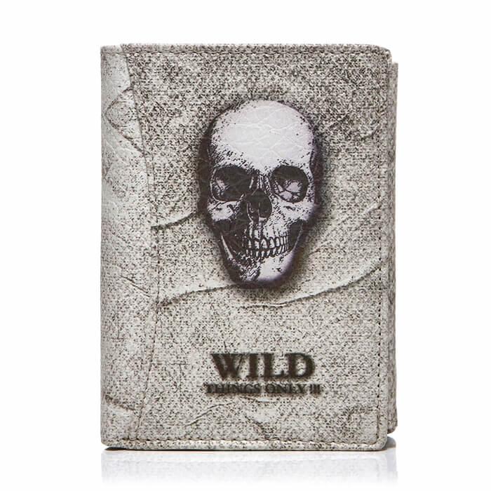 portfel z nadrukiem czaszki