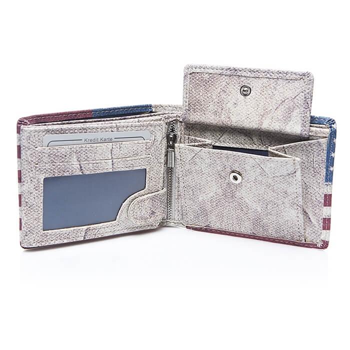 portfel z nadrukiem