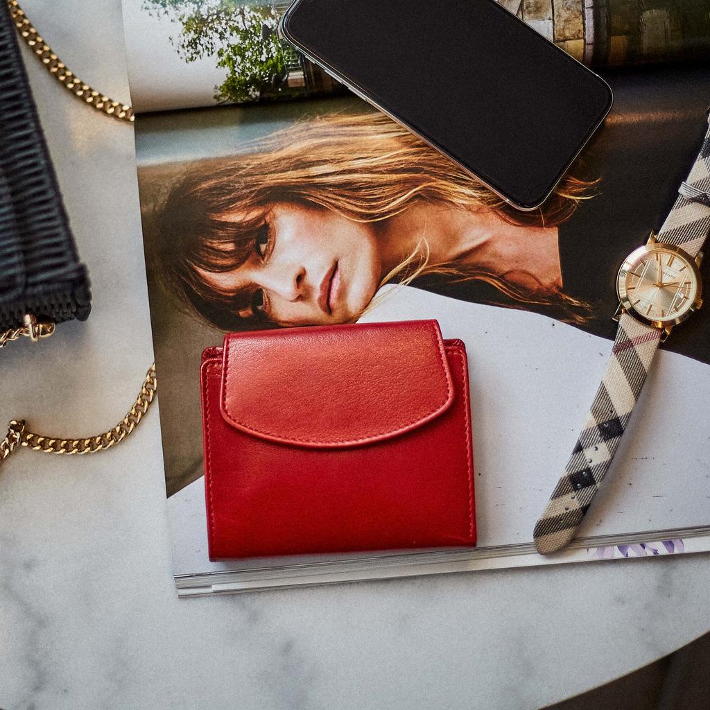 portfele damskie czerwone