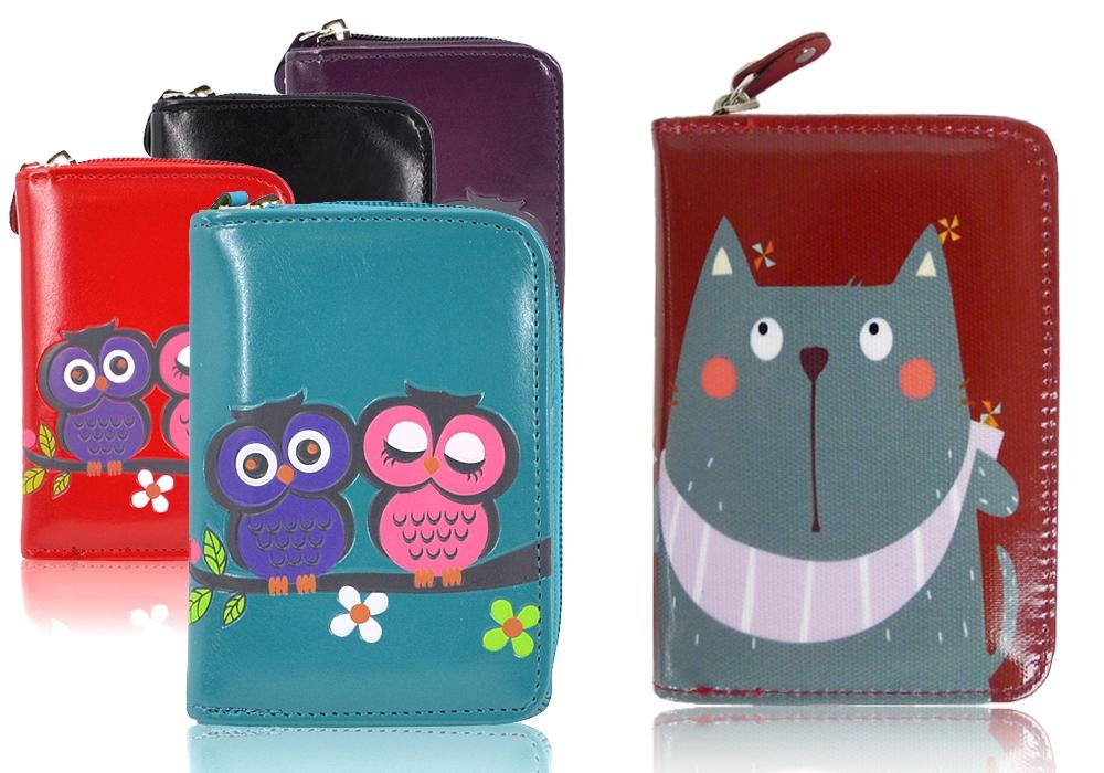 portfele kolorowe z nadrukiem