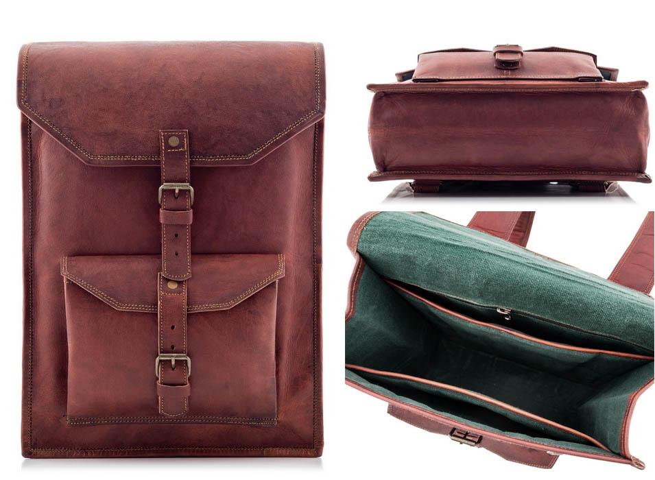 skórzany plecak do samolotu