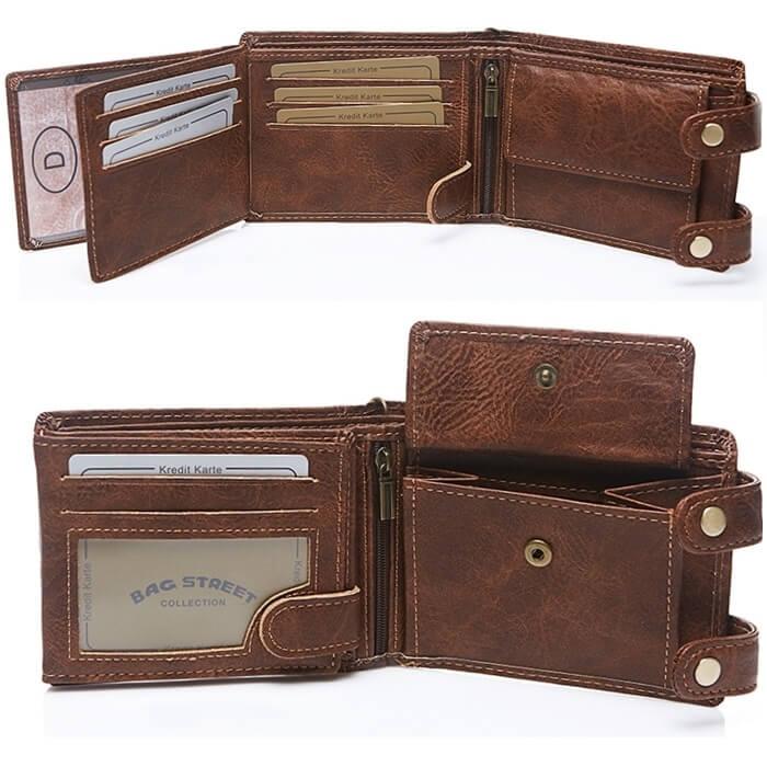 portfel z łańcuchem