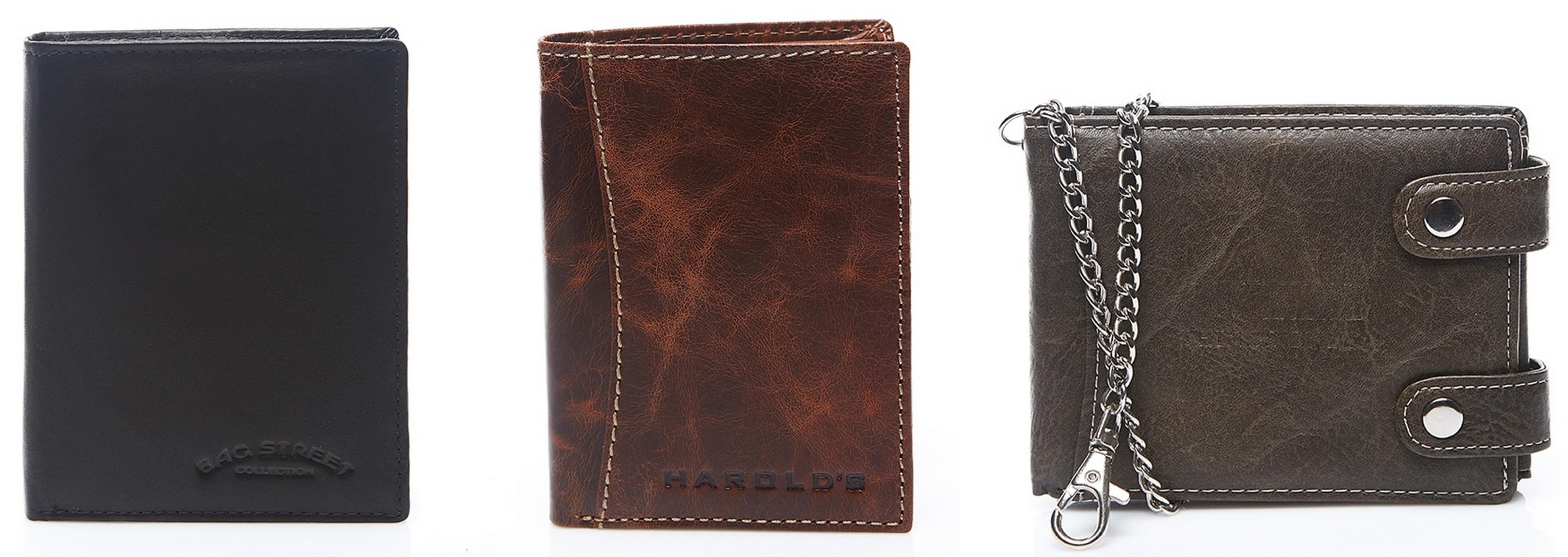 tanie skórzane portfele męskie