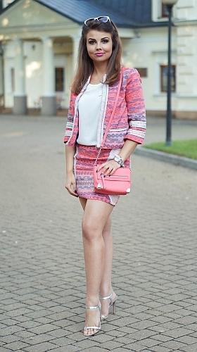 torebka młodzieżowa różowa