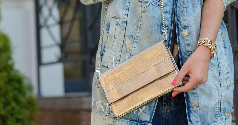 torebki złote damskie