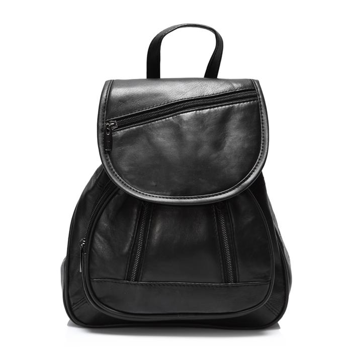8023f1559bbc ... Elegancki damski plecak skórzany AB35