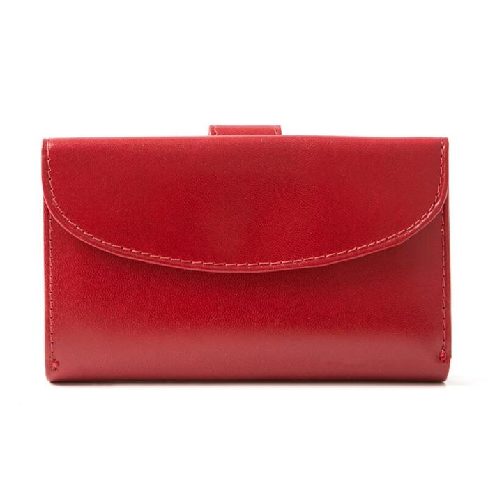 bcc072e2687df Czerwony portfel portmonetka damska BW45