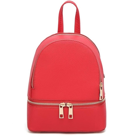 25f2a3a5cb541 Czerwony plecaczek damski skórzany Cersei