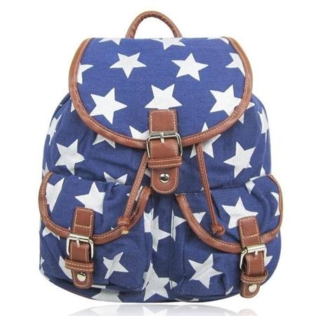09d8f6e2ccf51 Niebieski plecak vintage w Gwiazdki MC10