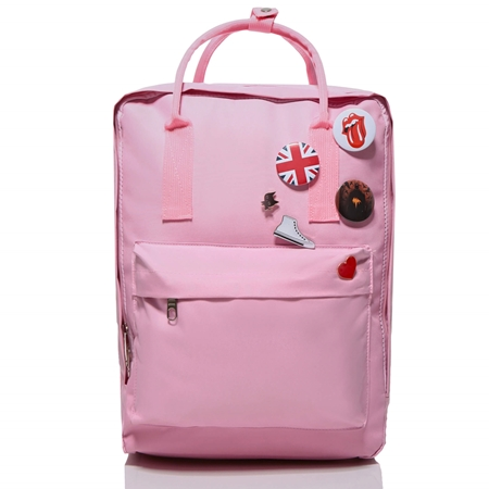 684b77509be85 Różowy plecak vintage damski CLASSIC KN33