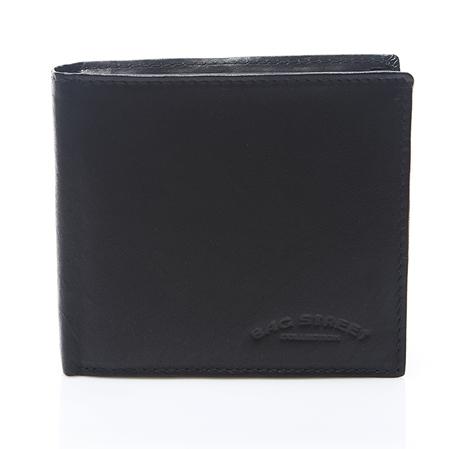 bd9f784fe0e37 Skórzany męski portfel duży czarny C65