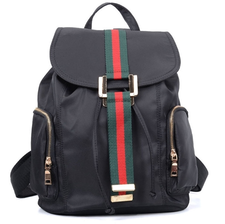 f78db66ea5cb9 Elegancki plecak damski czarny ROMA