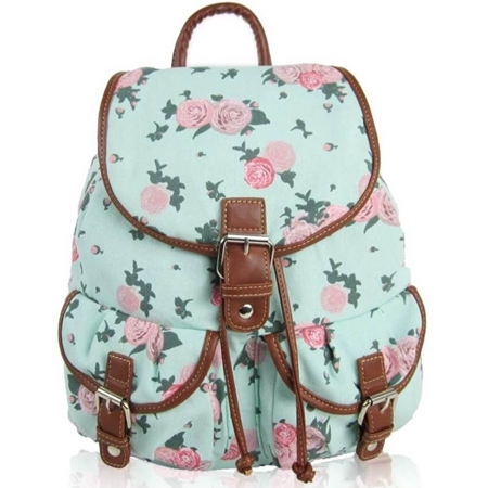 c53c3262778f4 Plecak vintage damski w kwiaty Róże MC09