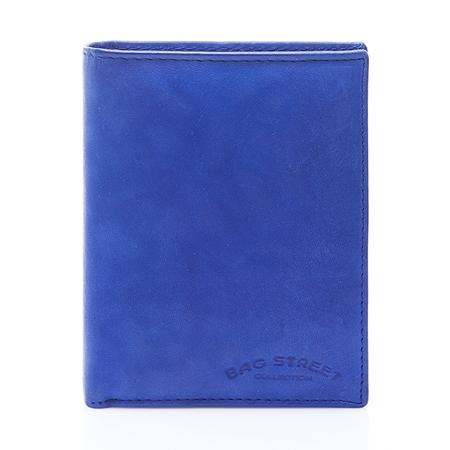 a35c1775939a3 Duży portfel skórzany męski niebieski C70