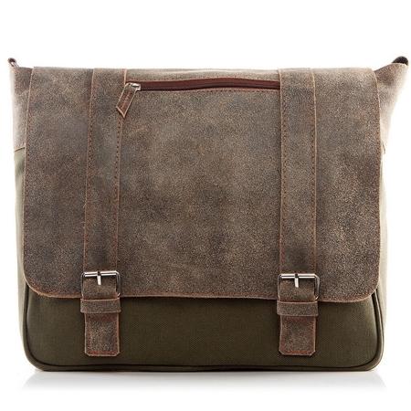 7e93addd18b3b Męska torba do szkoły na ramię SKÓRZANA BV67