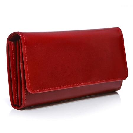 98aecd722d9e9 Duży portfel damski skórzany czerwony BW59