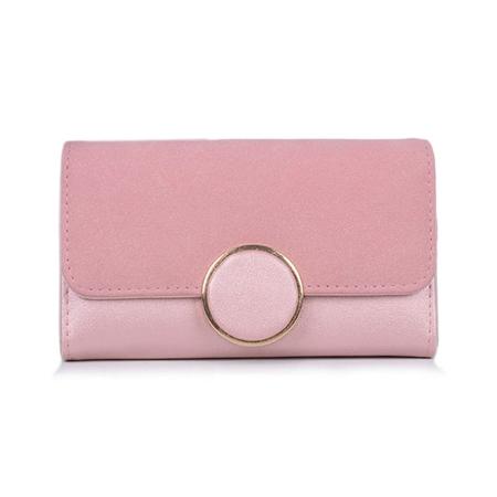 7d89e31fb6076 Mały portfel damski Pudrowy róż MICHEL C08
