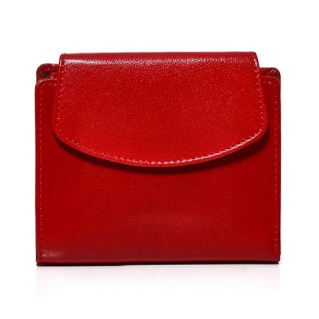 Mały portfel damski czerwony skórzany