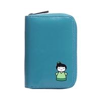 bfcd97339618b ... Mini portfel na zamek turkus dziewczynka WK
